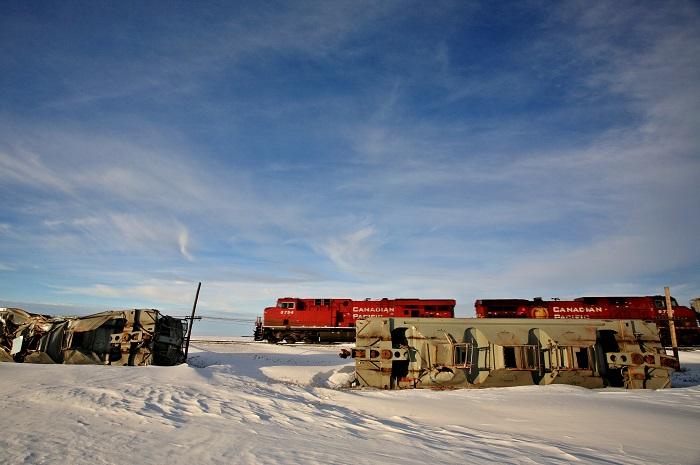 Train Wreck in Saskatchewan